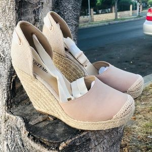 Espadrille Lace Up Wedges